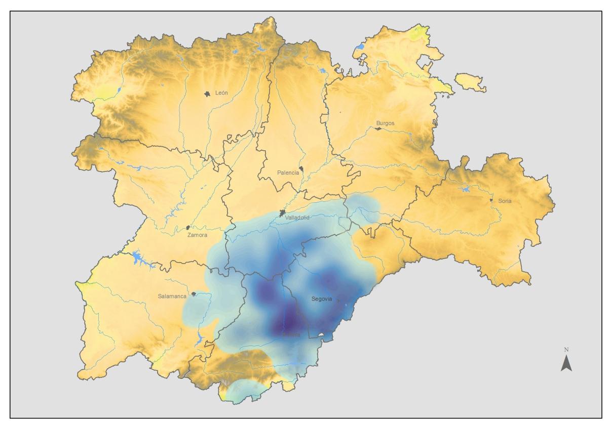 Mapa+del+águilar+real+en+Castilla+y+León